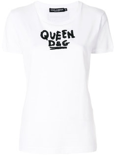 футболка с пайетками  Dolce & Gabbana