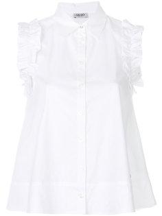 блузка с оборками без рукавов Liu Jo