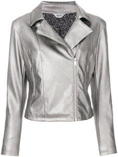 байкерская куртка с эффектом металлик Liu Jo