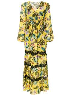 расклешенное длинное платье   Liu Jo