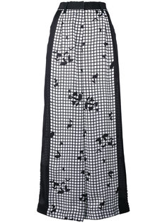 широкие брюки с сетчатым принтом  Sacai