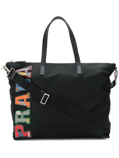 сумка на плечо с бляшкой с логотипом  Prada