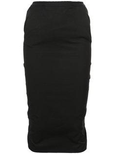 многослойная юбка-карандаш миди  Rick Owens