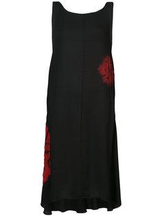 трапециевидное платье миди с принтом без рукавов Ys Y`s