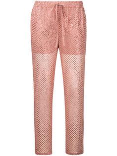 брюки с вышивкой Red Valentino
