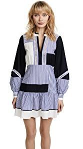 Tanya Taylor Menswear Stripe Yaya Dress