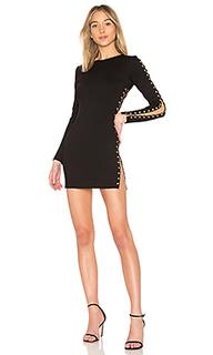 Облегающее платье на шнуровке с юбкой-солнцеклеш andy - by the way.