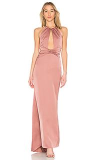 Вечернее платье с вырезом спереди champagne - NBD