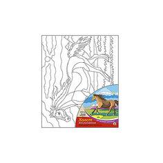 """Холст с красками по номерам """"Дикая лошадь"""", 25х30 см Рыжий кот"""