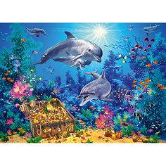 Пазл Семья дельфинов, 300 деталей, Castor Land Castorland