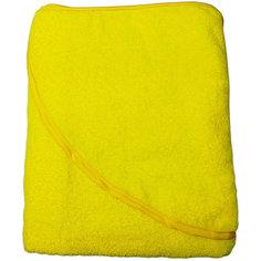 Махровое полотенце с уголком Baby Swimmer 100х100, желтое