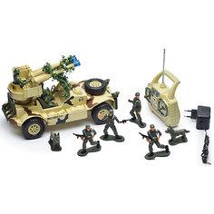 """Радиоуправляемая машинка Mioshi """"Военный джип с пулеметной установкой"""", 30 см"""