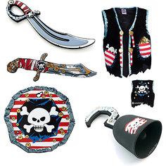 Набор для пирата, Lion Touch (Жилет,Щит,Сабля,Нож,Крюк) Liontouch