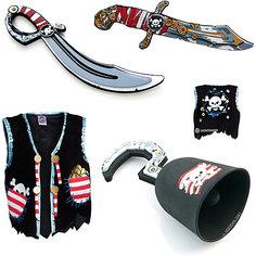 Набор для пирата, Lion Touch (Жилет,Сабля,Нож,Крюк) Liontouch