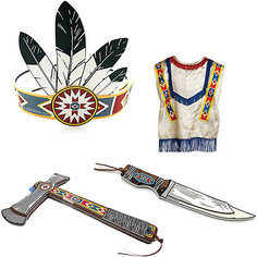 "Набор ""Индейцы Навахо"", Lion Touch (Пончо,Повязка,Нож,Топорик) Liontouch"
