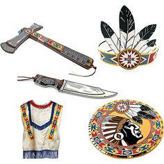 """Набор """"Индейцы Навахо"""", Lion Touch (Пончо,Щит,Повязка,Нож,Топорик) Liontouch"""