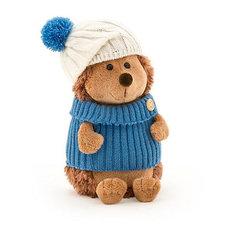 Мягкая игрушка Orange Ёжик Колюнчик в шапке с голубым помпоном, 20 см