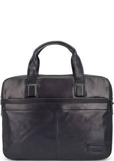 Синяя кожаная сумка со съемным плечевым ремнем Sergio Belotti