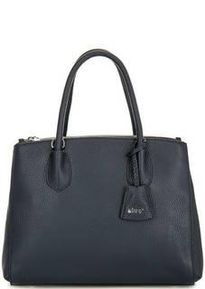 Синяя сумка из натуральной кожи Abro