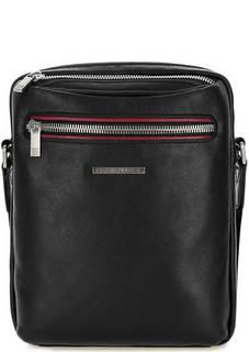 Кожаная сумка через плечо с карманми Sergio Belotti