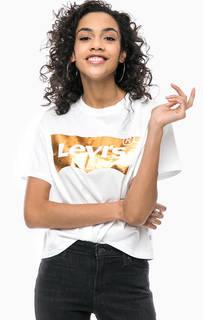 Укороченная футболка с блестящим принтом Levis®