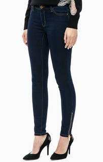 Синие укороченные джинсы скинни Michael Michael Kors