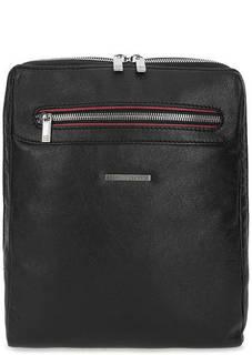 Черная кожаная сумка через плечо Sergio Belotti
