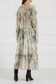 Платье-макси с цветочным принтом Loom Moscow