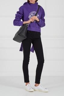 Укороченное худи фиолетового цвета Alexandr Rogov