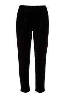 Черные велюровые брюки Manouk