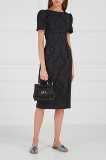 Платье-футляр из жаккарда Dolce & Gabbana