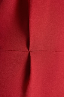 Красное платье с асимметричным верхом Alexander Terekhov