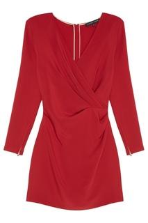 Красное платье с драпировкой Alexander Terekhov