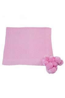 Розовый плед из хлопка «Маленькая радость» La Petite Joie