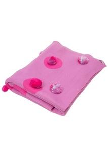Розовый плед с помпонами «Цирк» La Petite Joie