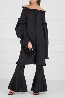 Шелковые брюки с воланами по низу Ivka