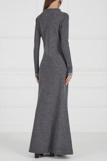 Серое платье из шерсти и кашемира La Pina
