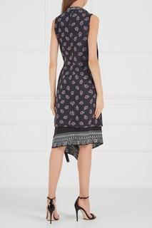 Платье с запахом и бахромой Altuzarra