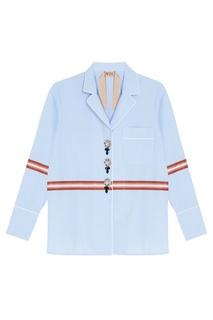 Хлопковая рубашка с декоративными пуговицами No.21