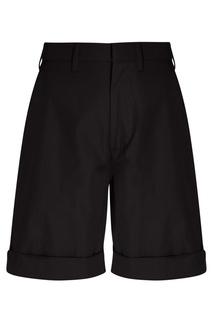 Черные шорты из хлопка No.21