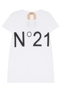 Белая футболка с логотипом No.21
