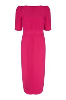 Розовое платье-футляр No.21