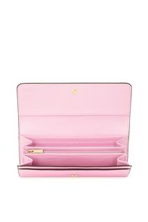 Розовый сафьяновый кошелек Babylon Furla