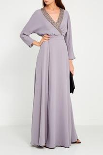 Серое платье с запахом Laroom
