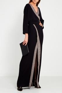 Черное платье с запахом Laroom