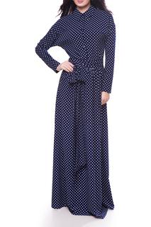 Длинное платье в горошек Olivegrey