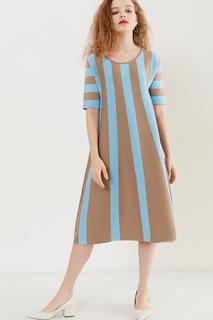 Яркое платье в полоску MIRSTORES