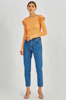 Легкая блуза с рюшами на рукавах MIRSTORES