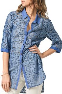 Полуприлегающая блузка с застежкой на пуговицы Helmidge