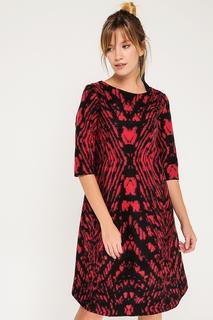 Трапециевидное платье с рукавами 1/2 BGN
